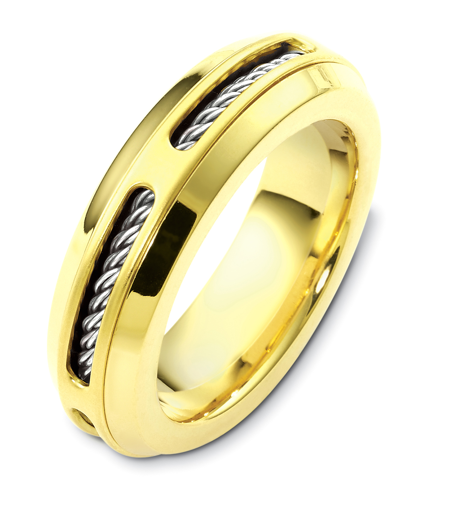 Details About 14k Twotone Cable Twist 7mm Wedding Band Sz 414: Twisted Two Tone Wedding Bands At Websimilar.org